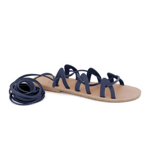 GREEK LEATHER SANDALS 'ANDROMEDA' Blue
